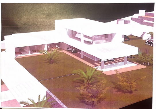 Country plot of land  with approved project of a modern villa